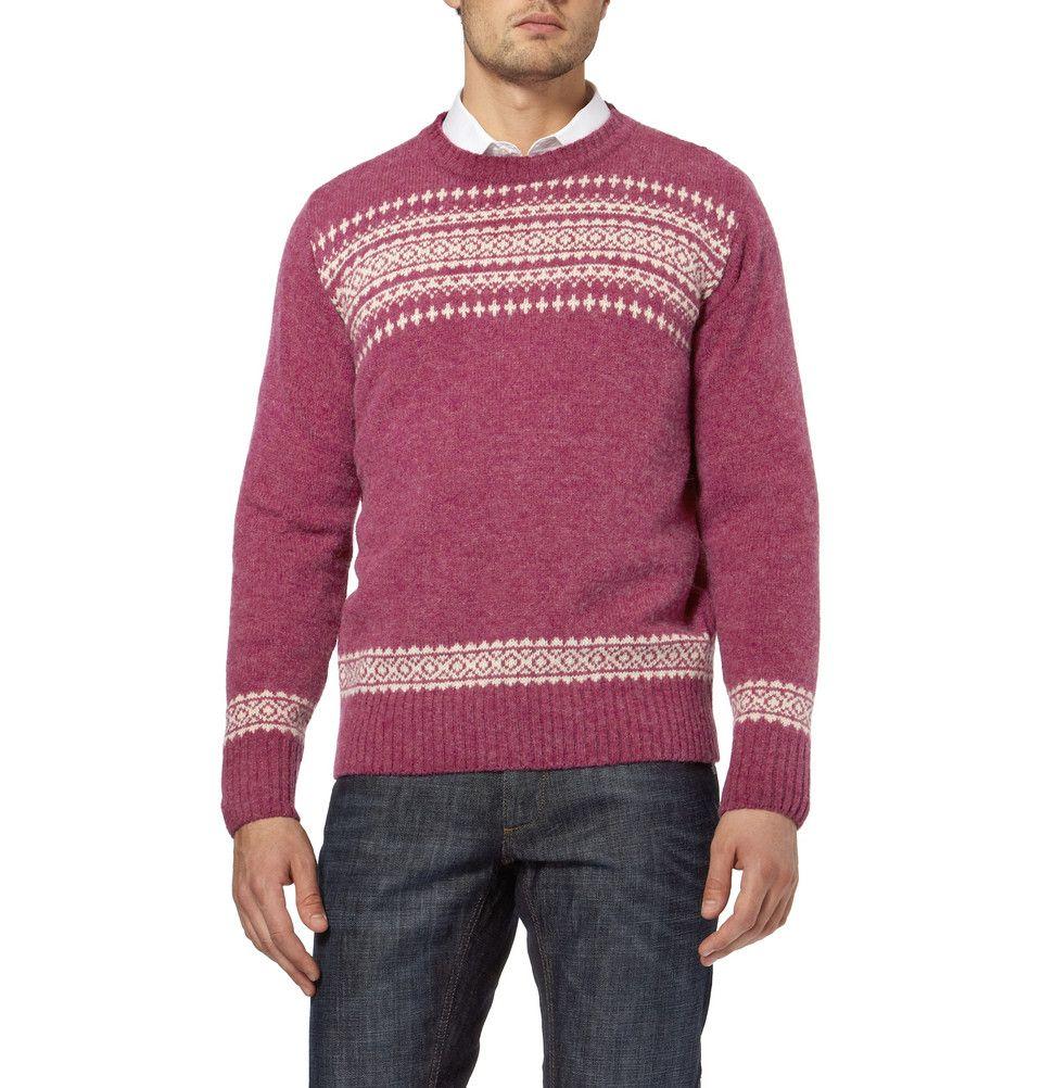 YMC - Fair Isle wool sweater   Menswear   Tops   Pinterest   Fair ...