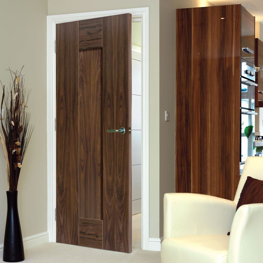 Jbk Symmetry Axis Walnut Shaker Panel Door 1 2 Hour Fire Rated Prefinished Panel Doors Fire Doors Door Fittings