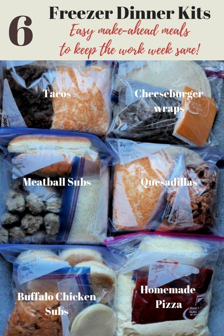 Make ahead freezer meals: My 6 Favorite Freezer Meal Kits! images