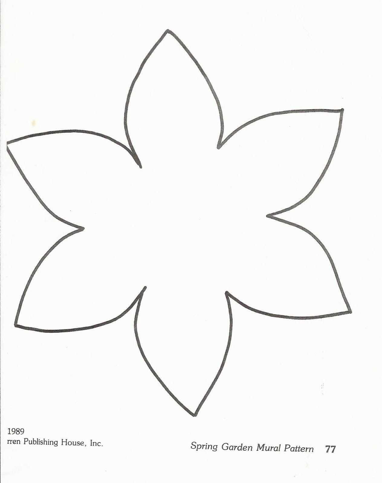Paper Flower Stencil Bing Images Preschool Pinterest