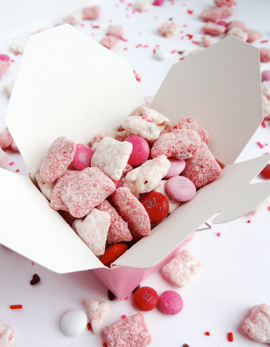 valentine's day strawberries and cream puppy chow - life love and, Ideas