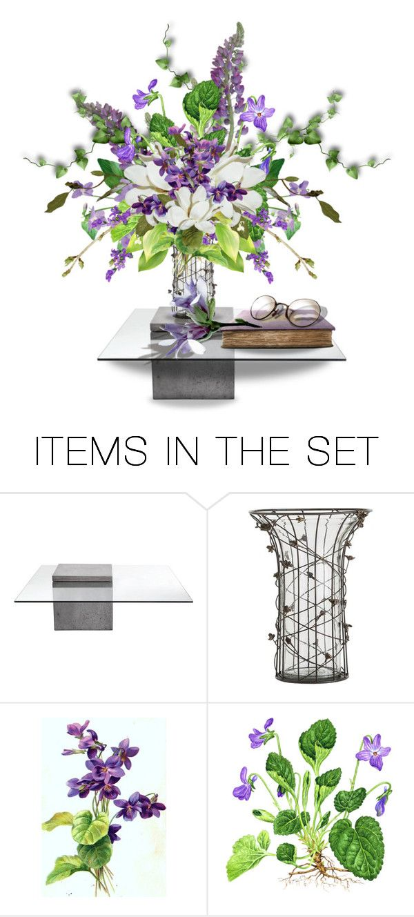 """February Violet"" by queenrachietemplateaddict ❤ liked on Polyvore featuring art, violets, flowerarrangements and ifitsflowers"