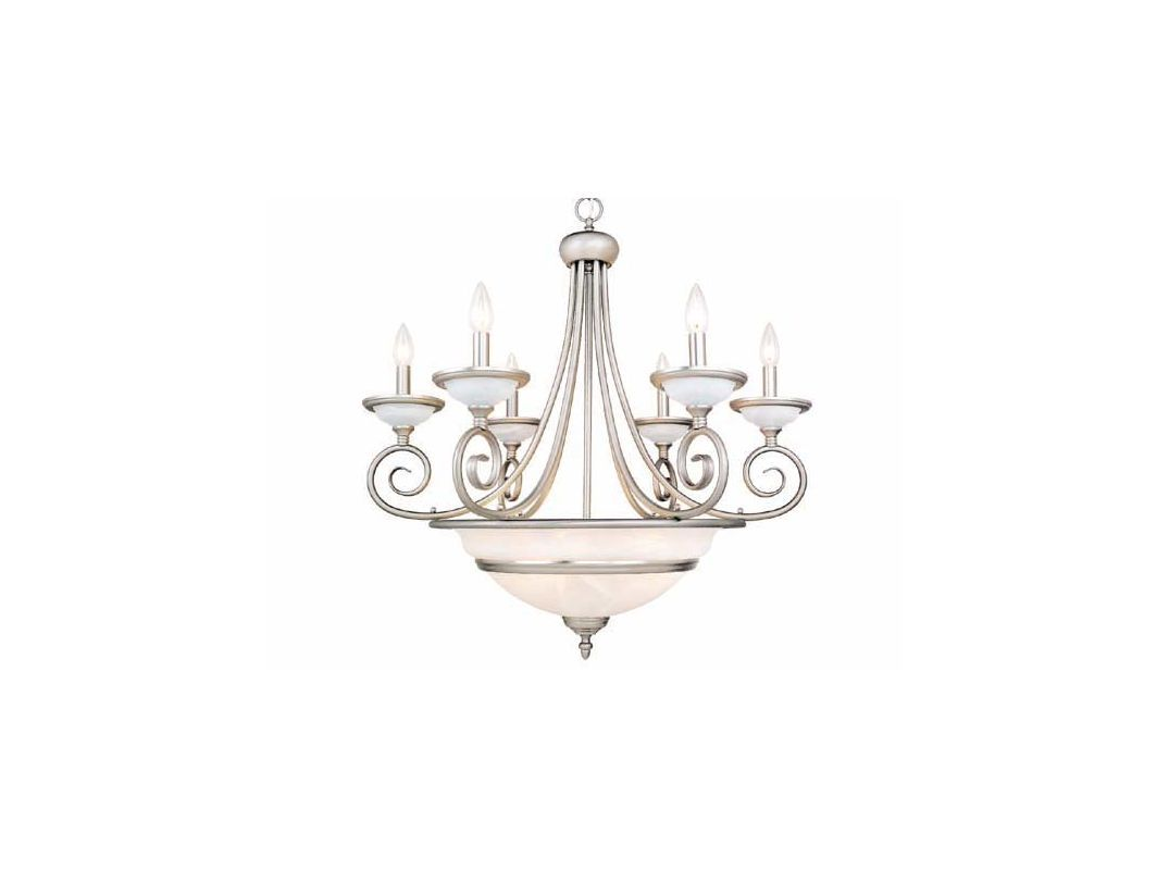 View The Vaxcel Lighting Ch1011 Da Vinci 11 Light Single Tier Chandelier With Glass Shades