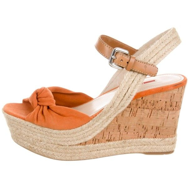 bf9c83278fc Pre-owned Prada Sport Suede Espadrille Wedges ($125) ❤ liked on ...