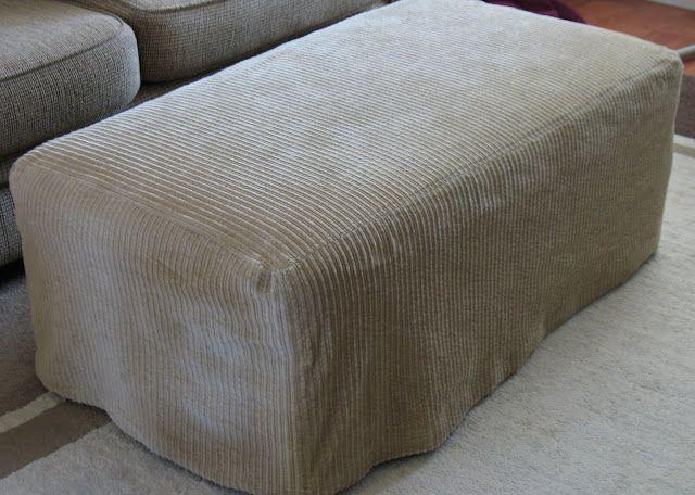 Ottoman Slipcover Tutorial Ottoman Slipcover Slipcovers Diy