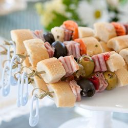 Muffaletta skewers... and interesting take on one of my favourite kinds of sandwiches...