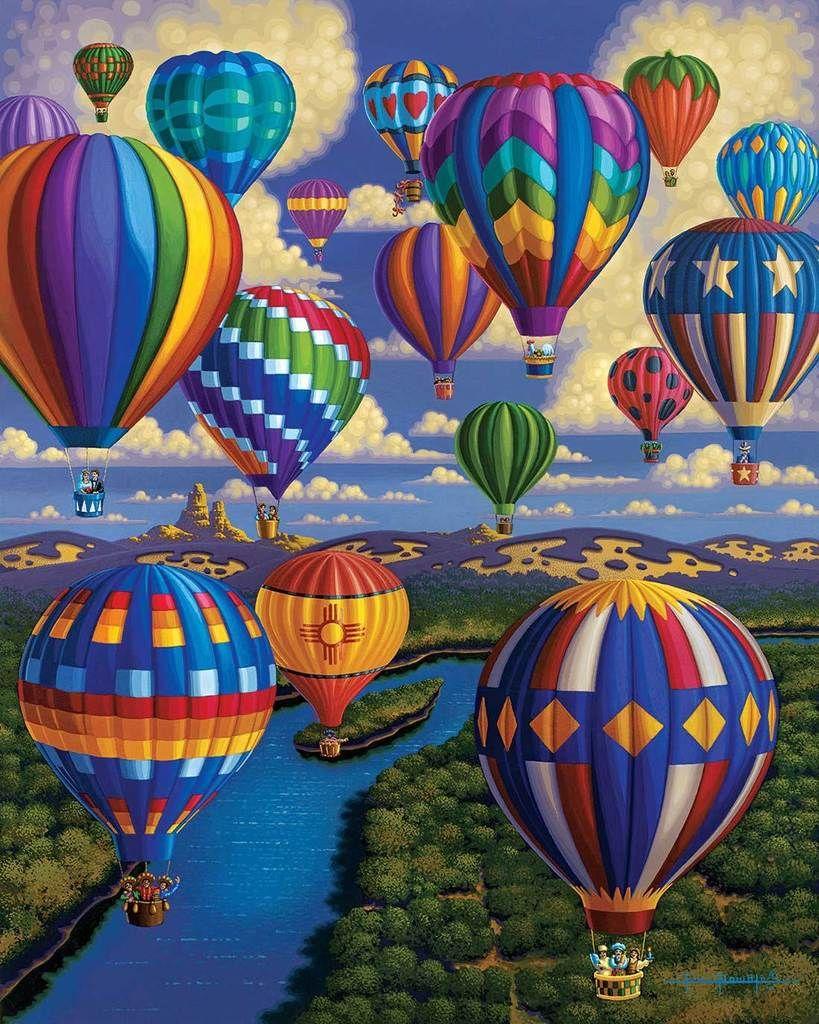 Balloon Festival Fine Art Hot air balloon, Hot air
