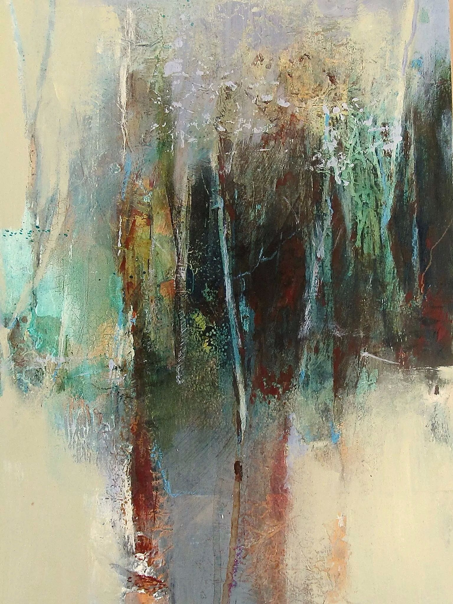 Landscape abstract art painting abstract abstract art