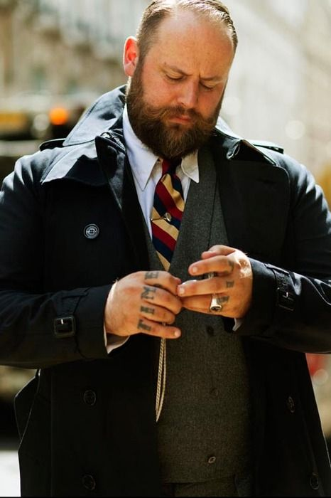 Sartorial #man University Inspired Stripe tie and woollen vest with trenchcoat