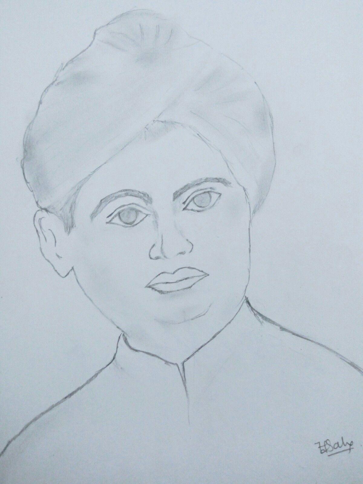 Swami Vivekananda | Pencil art drawings, Pencil art, Art