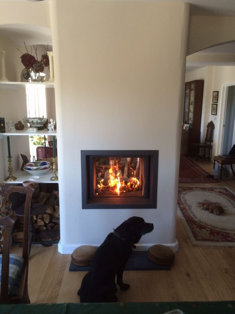 Stuv 21/75 Installation #KernowFires #stuv #fireplace #woodburner ...