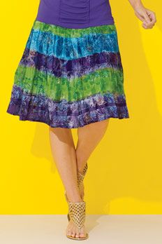 Metrostyle Metallic Print Skirt