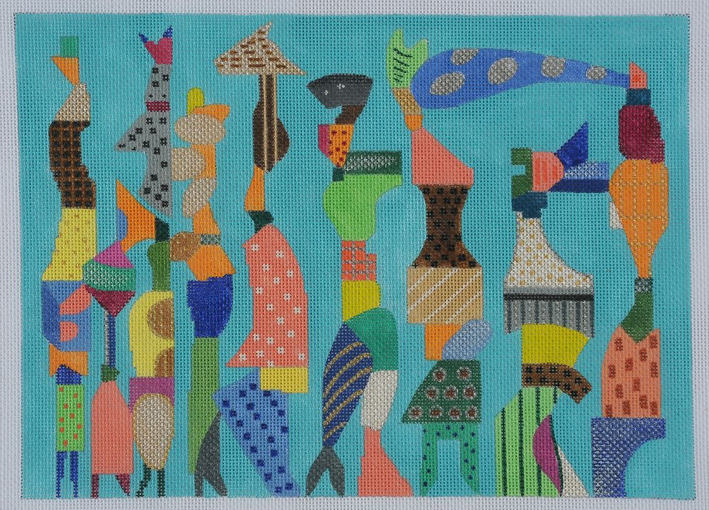Dancing Ladies by BB Needlepoint Design