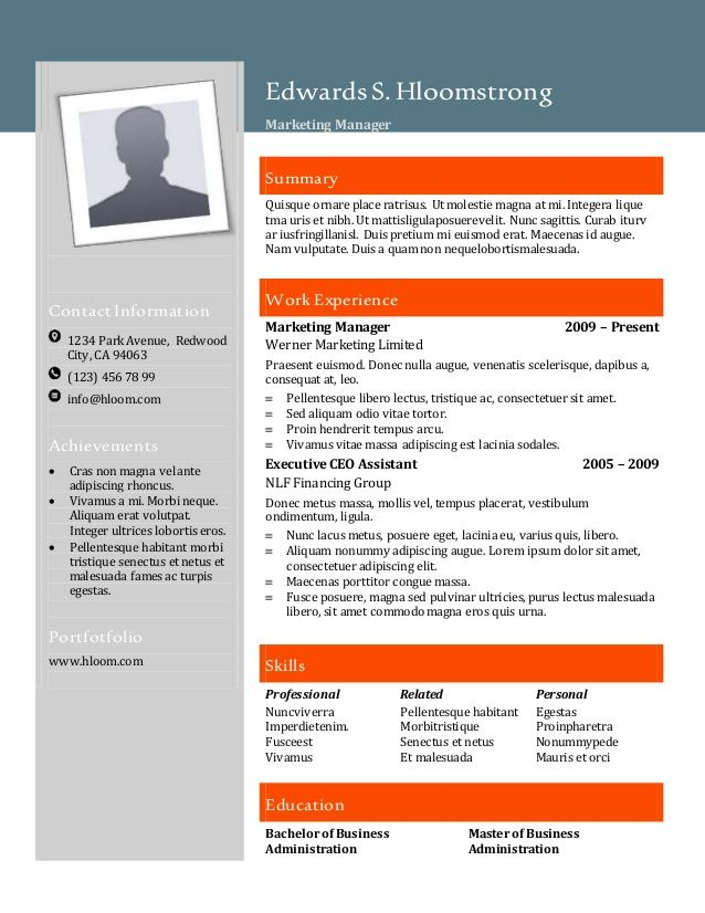 Resume Templates Hloom 7 Templates Example Templates Example In 2020 Resume Template Free Modern Resume Template Free Resume Templates