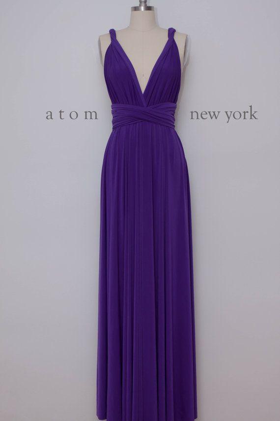 Royal Purple LONG Floor Length Ball Gown Maxi Infinity Dress ...