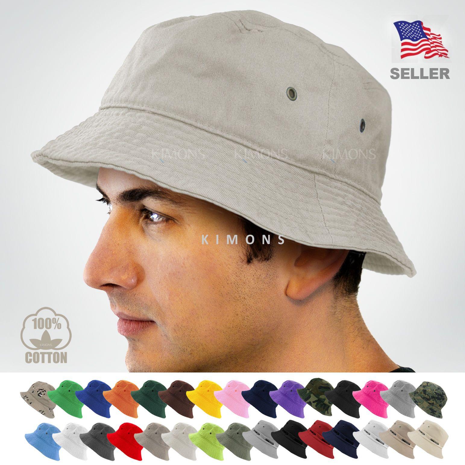 Bucket Hat Fishing Brim Boonie Visor Unisex Sun Hunting Summer Camping Cap Prett