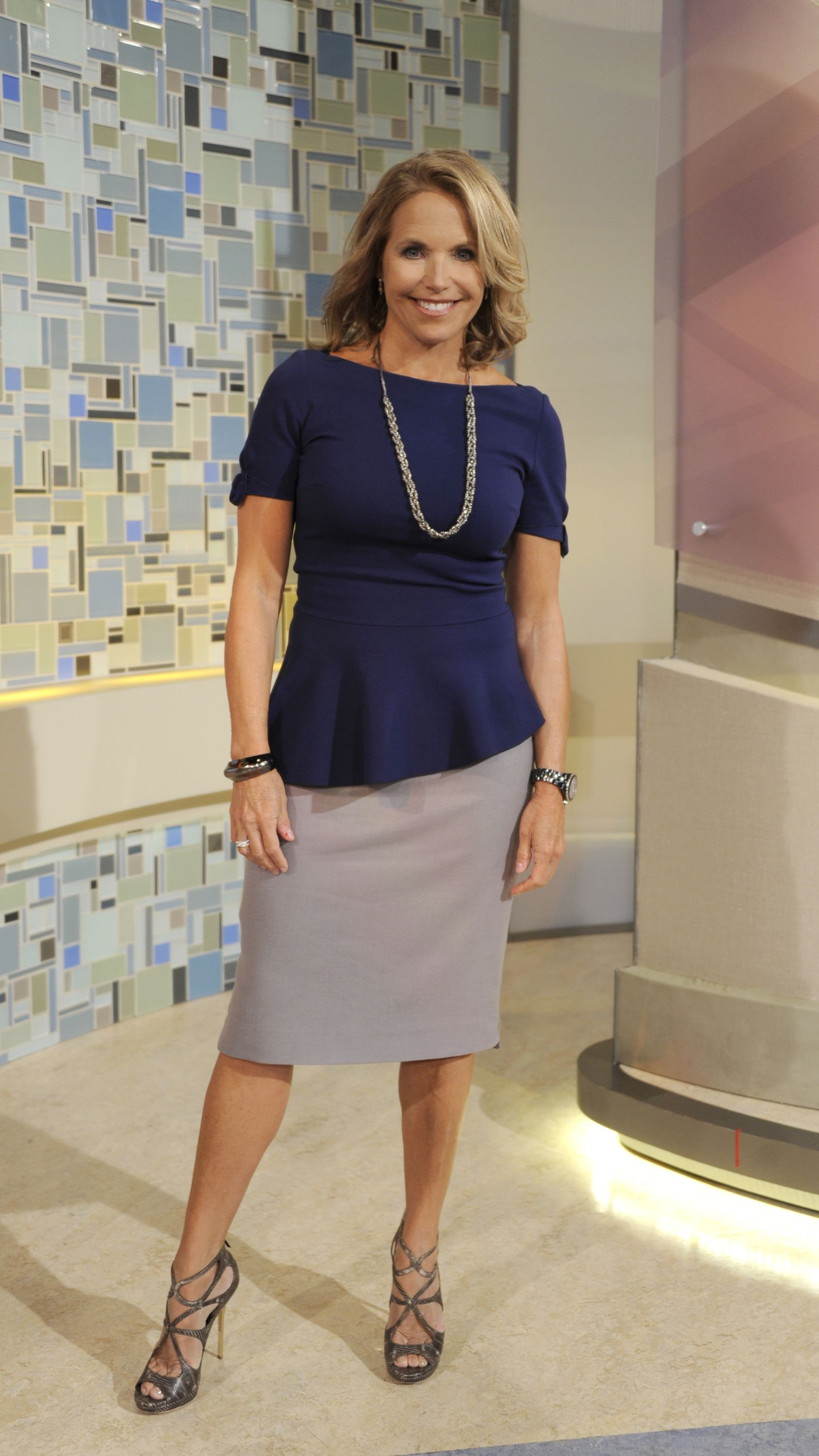 4c348b5f385d Peplum top and skirt by Elie Tahari, worn by Katie Couric on Katie - voted  by @InStyle Magazine readers!