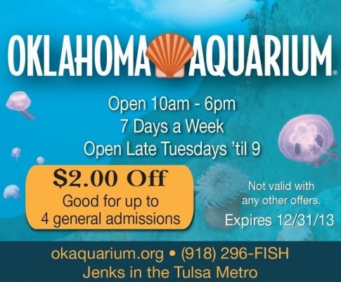 Save 2 Off Admission For Up To Four People At The Oklahoma Aquarium In Jenks
