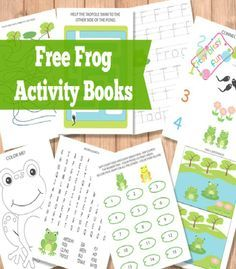 Frog Activity Books Frog activities Frogs and Free printable