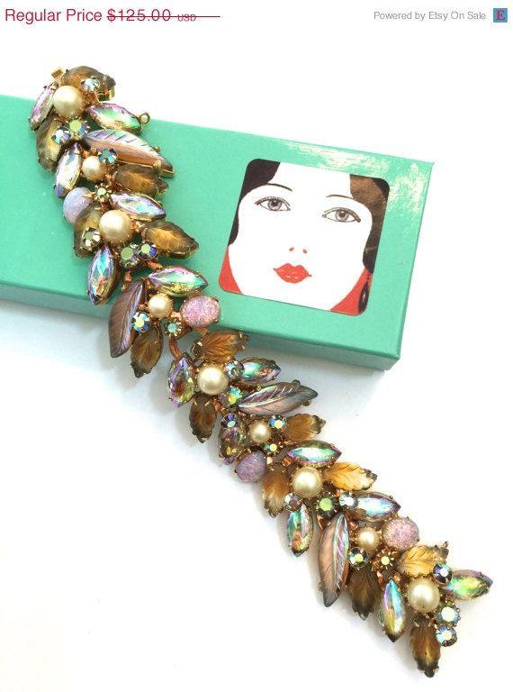 Kramer Art Glass Bracelet by Vintageimagine on Etsy