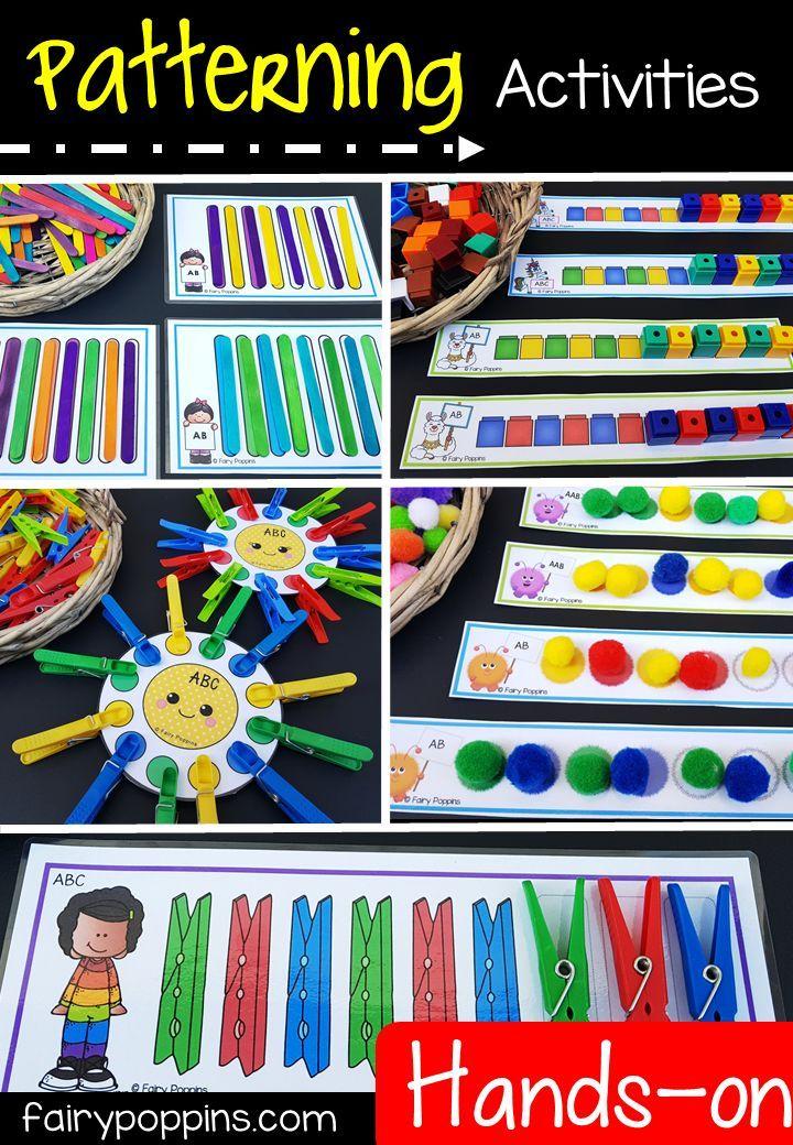 Fun Patterning Cards #preschoolclassroomsetup
