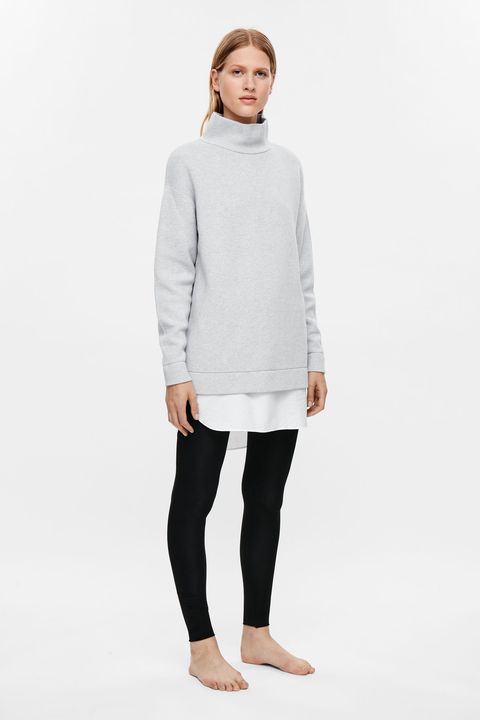 c93d19e8f COS image 1 of Oversized milano knit jumper in Light Grey