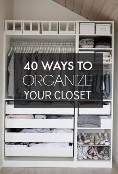 40 Easy Ways To Organize Your Closet From Pinterest! Get Your Home Organized  With These