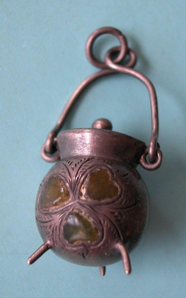 Very Rare Vintage Sterling Irish Pot Of Gold W Connemara