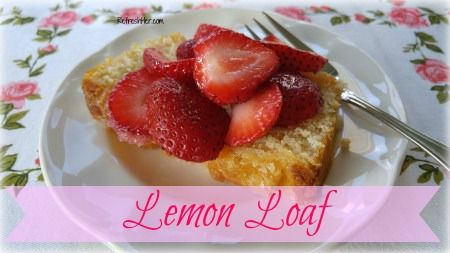 I have a favorite recipe to share with you today ~ it's my Lemon Loaf that I made a milliontimeswhen I had my home baking business (not really, but it seemed like it!). It was a much loved…