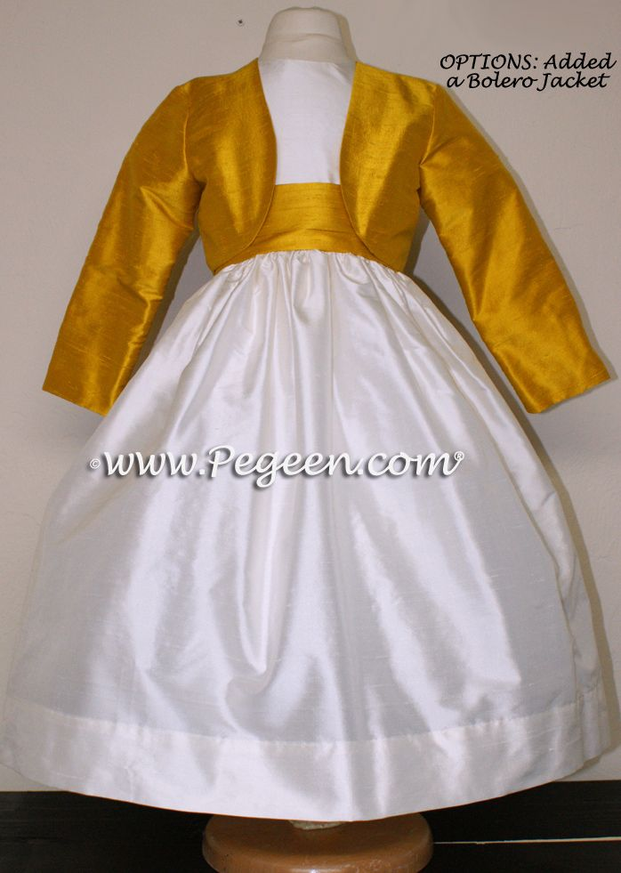 Flower Girl Dresses by Pegeen.com with bolero jacket