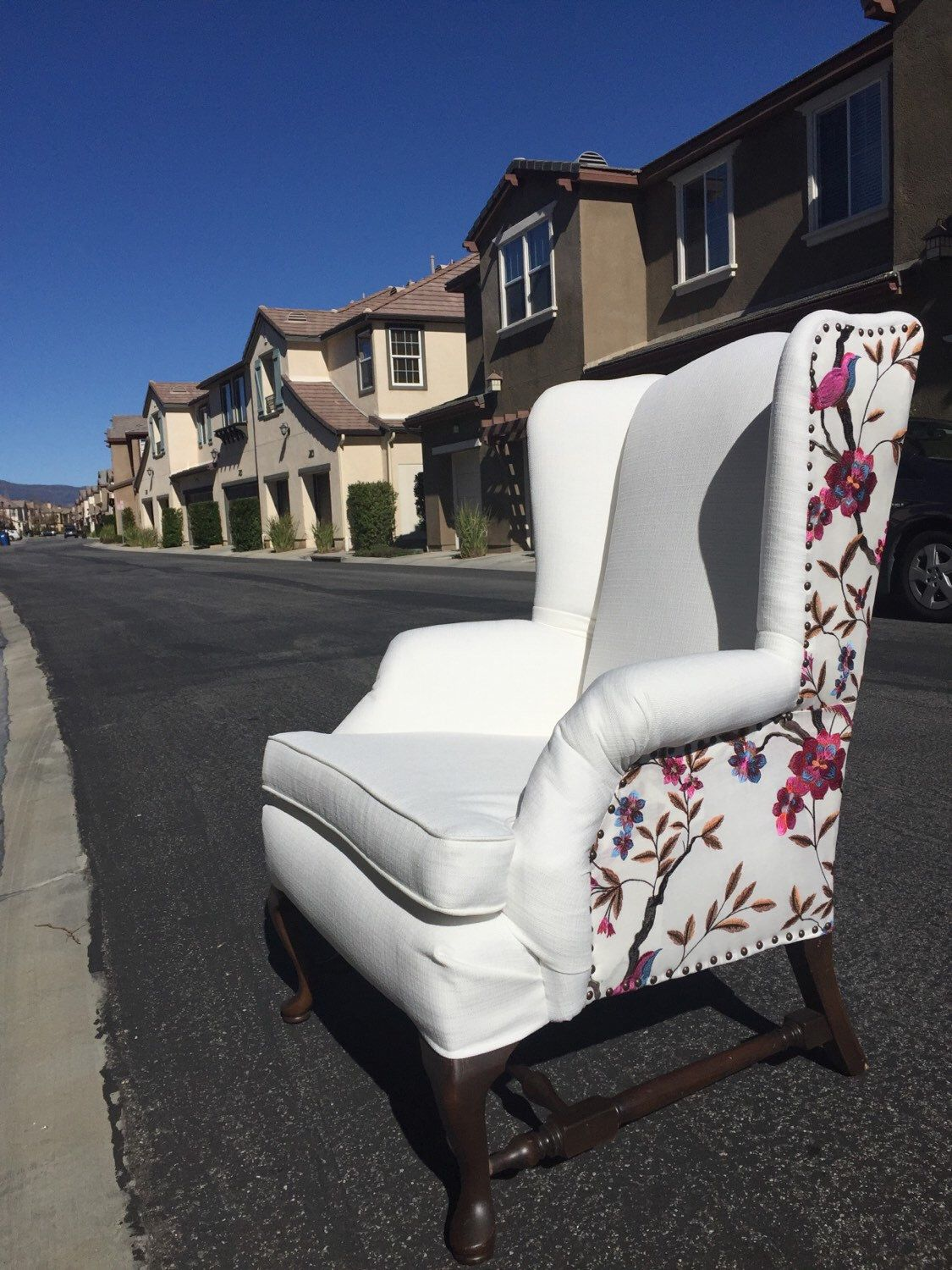 Cardinal Wing Back Chair by EightyEightFloors on Etsy https://www.etsy.com/listing/103131071/cardinal-wing-back-chair