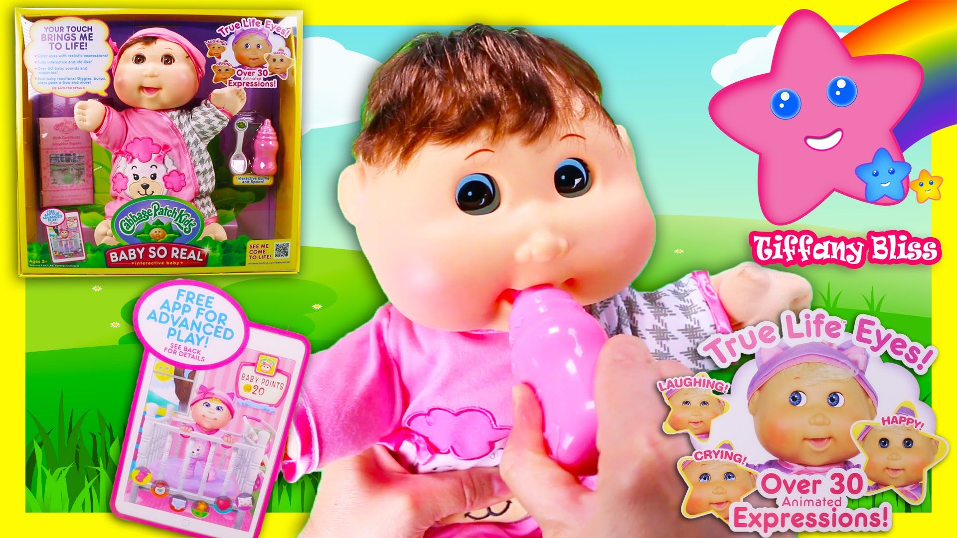 Cabbage Patch Kids Baby So Real Interactive Doll New 2016
