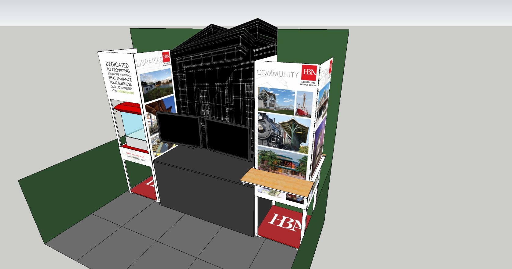 Exhibition Stand Sketchup : Sketchup make tutorial a simple booth design youtube