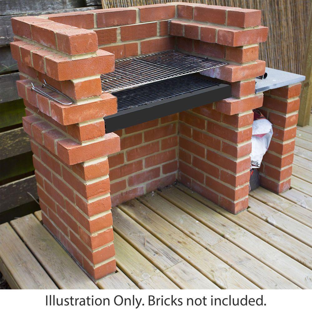 Xl Brick Bbq Diy Kit Charcoal Barbecue Chrome Grill Two Sizes Build Your Own Bbq Ebay Brick Bbq Brick Built Bbq Diy Bbq