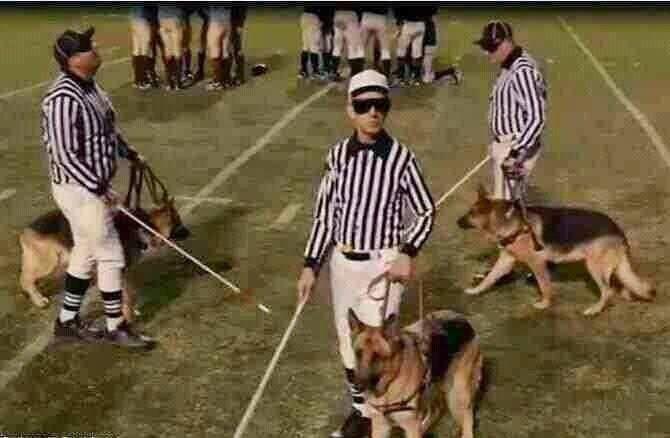 Blind Refs Football Funny Fantasy Football Humor Football Memes