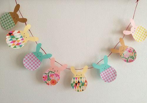 イースター飾りの作り方!うさぎガーランドを手作り 春分 3月21日頃 Pinterest Easter