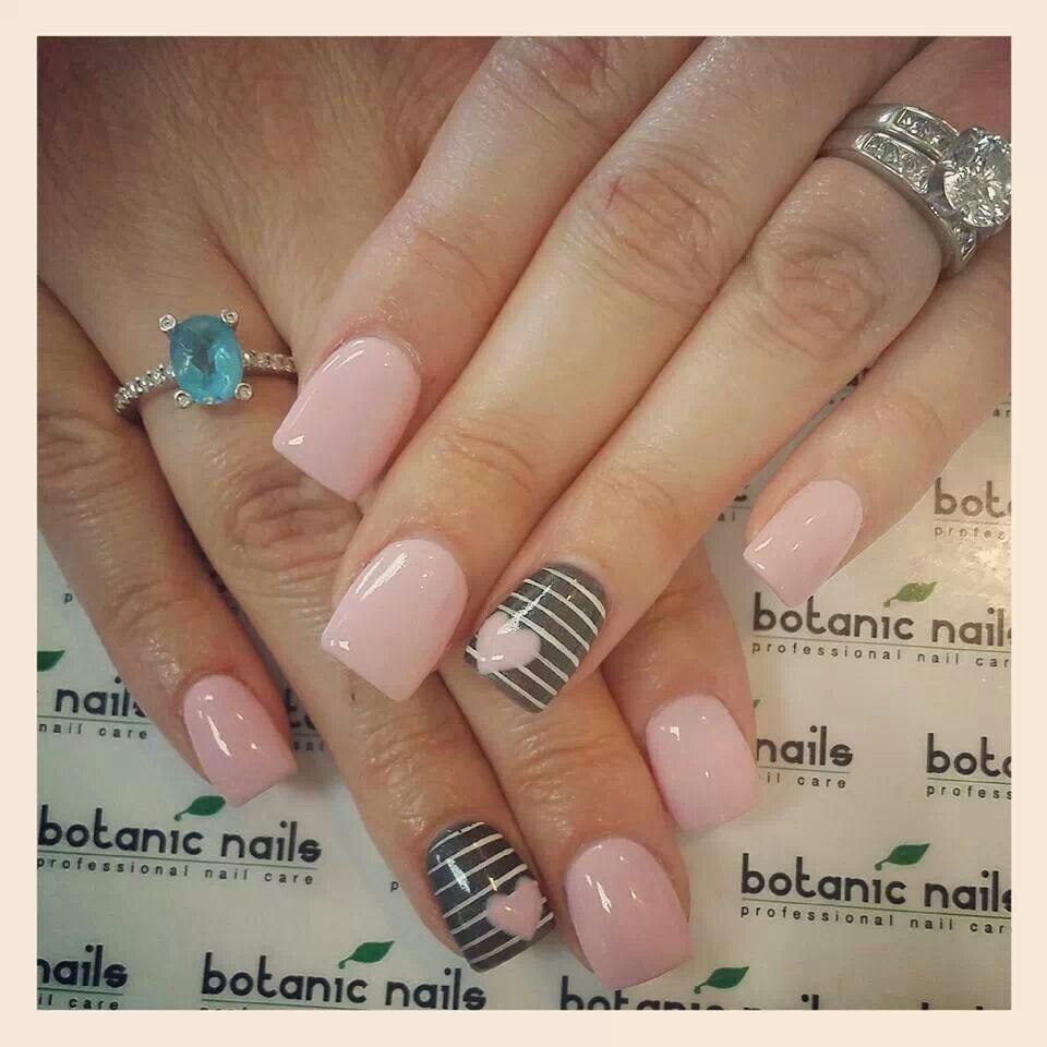 Love the pink and grey | Malva | Pinterest | Diseños de uñas ...