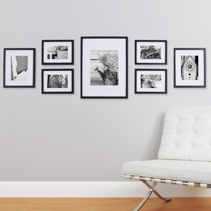 You\'ll love the Gallery 7 Piece Perfect Wall Picture Frame Set at ...