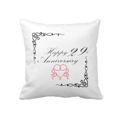 29 Year Wedding Anniversary Gift: Happy 29th Anniversary Pillow