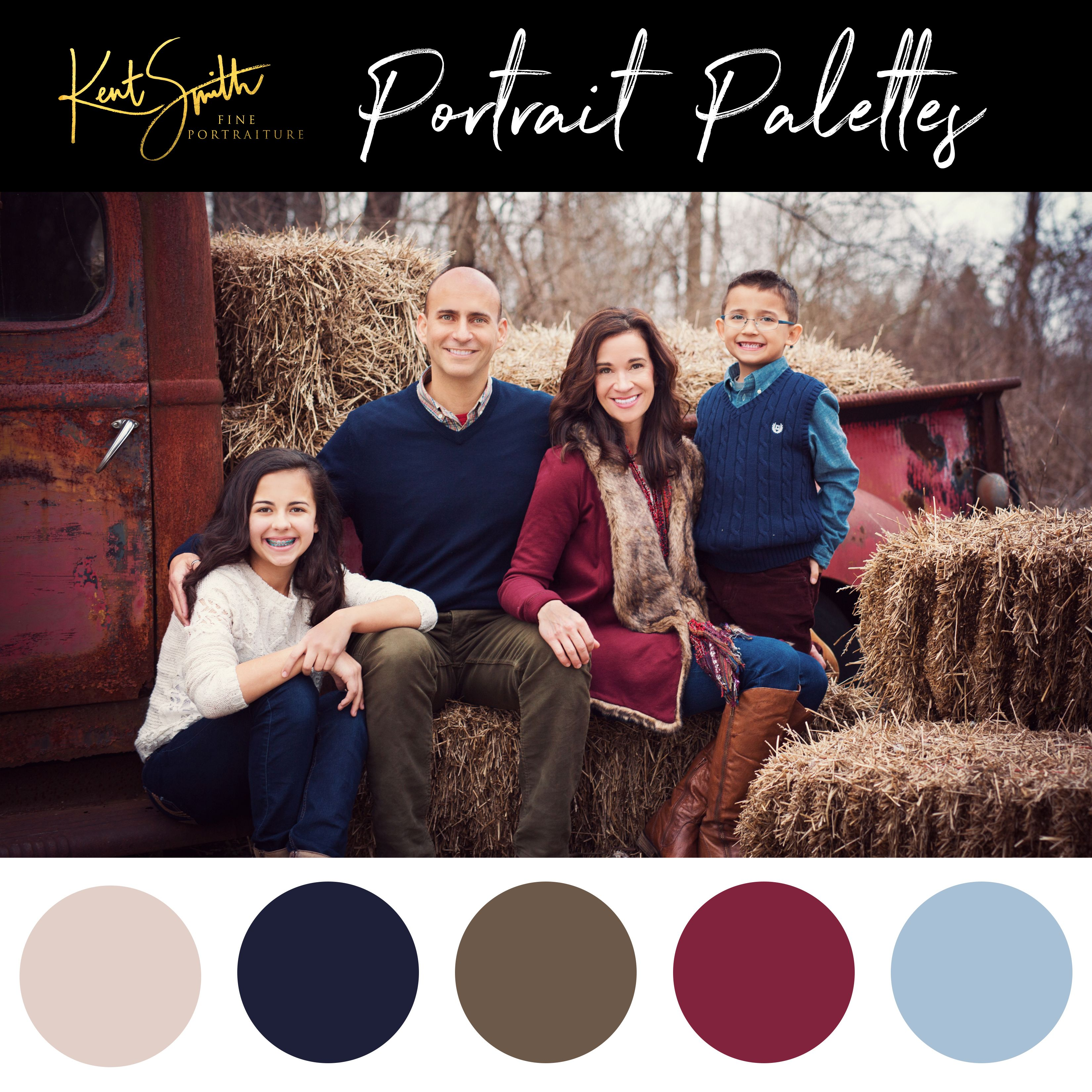 Beautiful fall tones, and our beautiful rustic truck! #familyphotooutfits