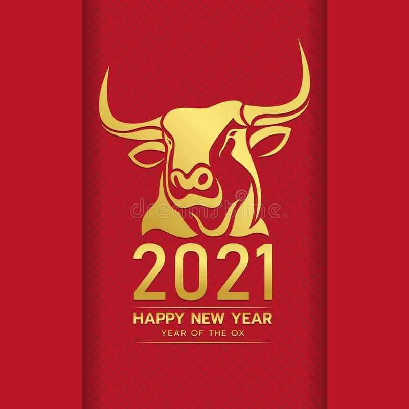 Happy Chinese New Year 2021 With Gold Head Ox Zodiac Sign On Red Chinese Culture Spon Chinese New Year Greeting Chinese New Year Zodiac Happy Chinese New Year