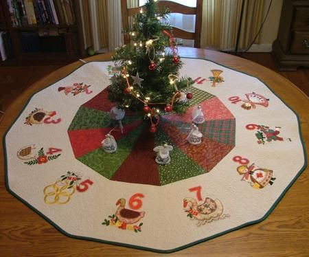 Advanced Embroidery Designs Free Projects And Ideas 12 Days Of Christmas Machine Embroidery Christmas Christmas Applique Machine Embroidery Designs Projects