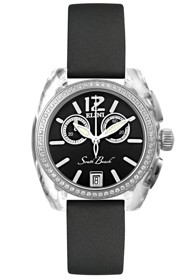 Price:$379.00 #watches Elini BK2616SLVBK, The Elini brand create a modern and urban look in high-tech polycarbonate case