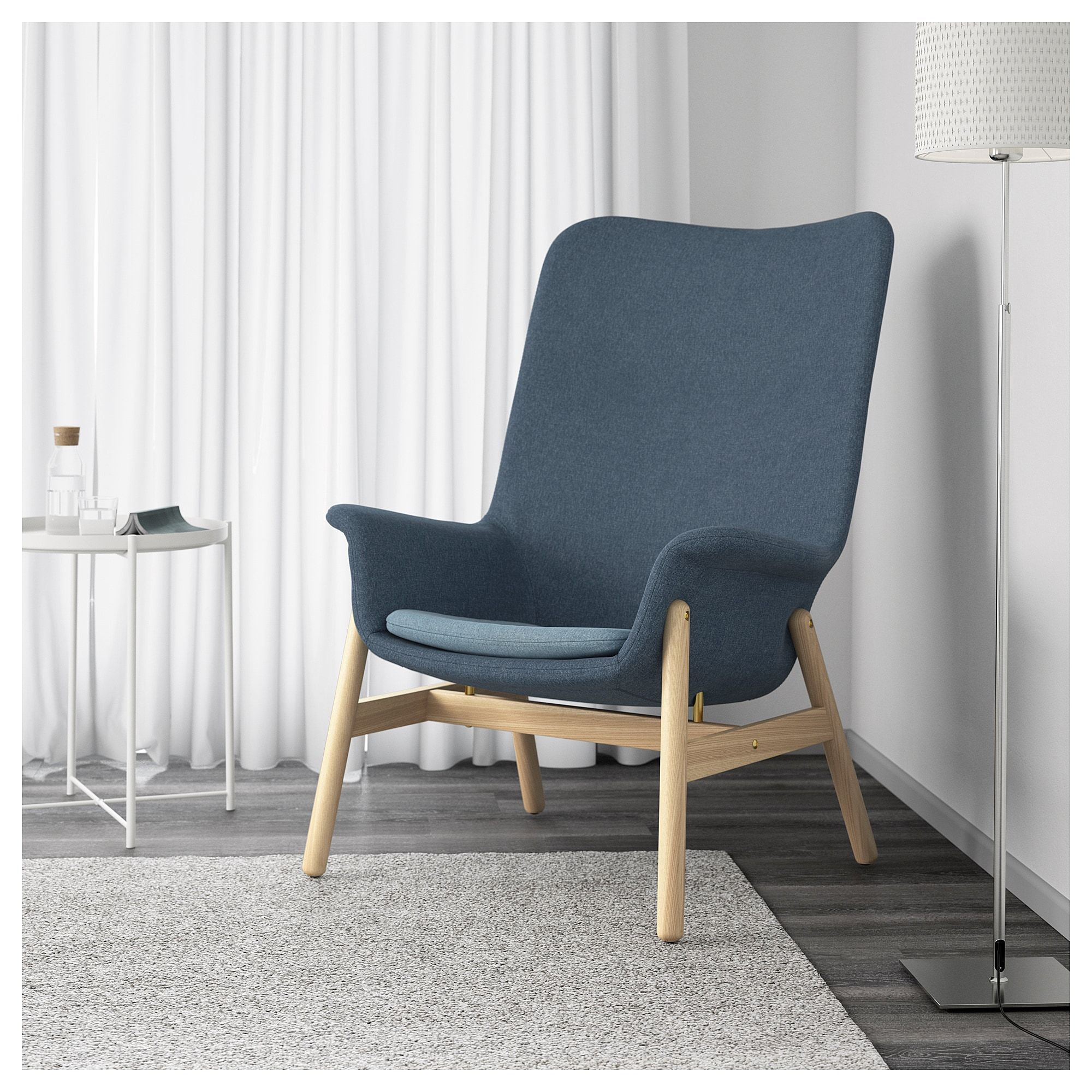 Ikea Sessel Creme Ikea Vedbo Armchair Gunnared Blue High Back Armchair