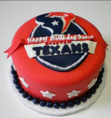 Houston Texans Birthday Cake Yum Houston Texans Pinterest