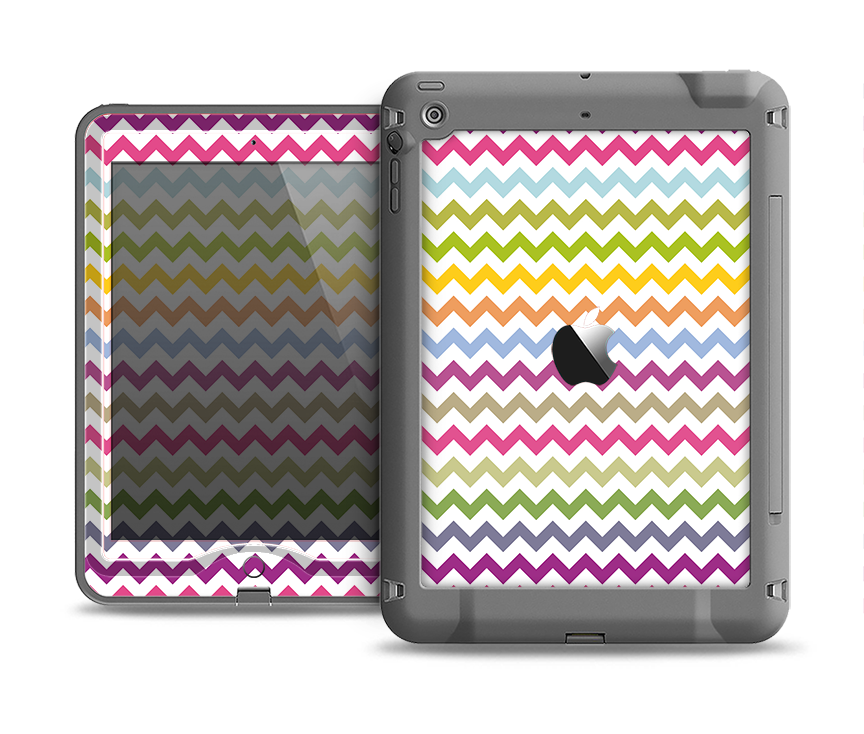The Colorful Chevron Pattern Apple iPad Air LifeProof Nuud Case Skin Set