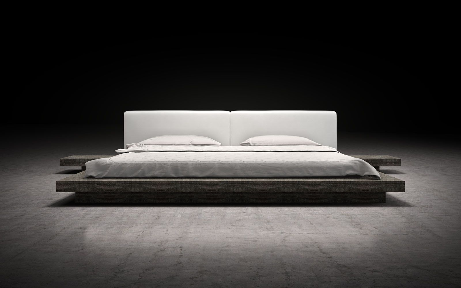 The Japaneseinspired Worth platform bed features a low