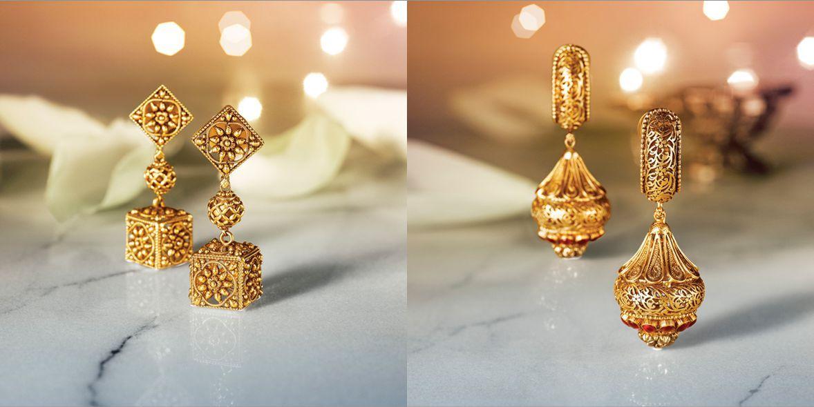 Tanishq Divyam Jewellery Earrings Tanshiq S Divyam