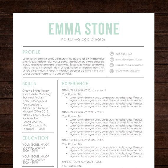 resume template professional creative resume instant