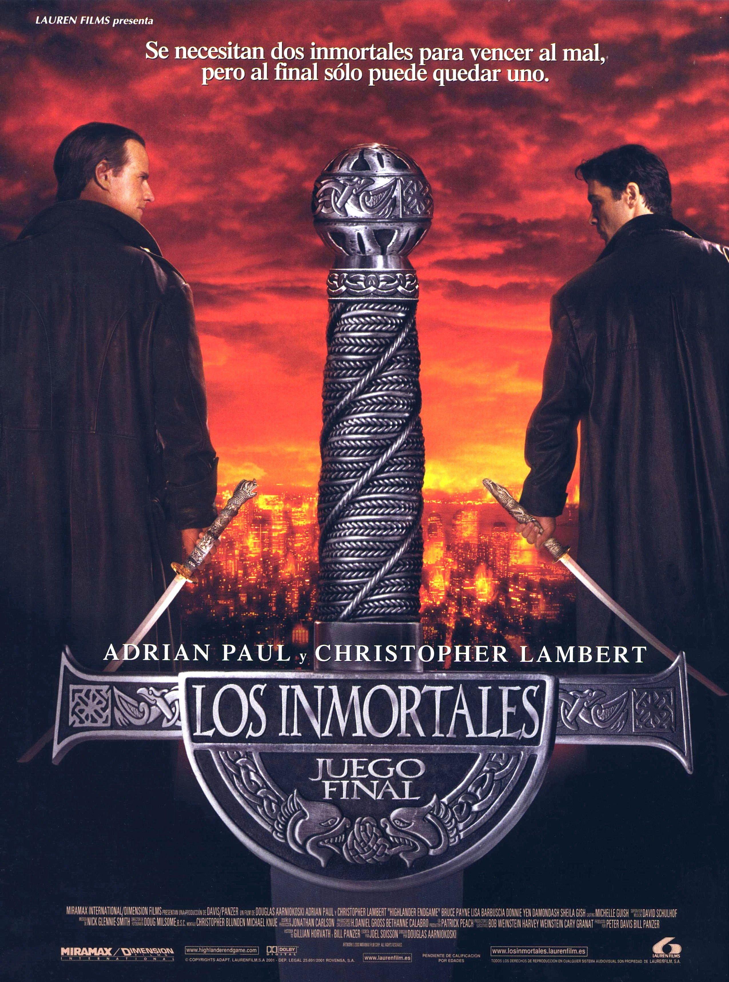 Los Inmortales: juego final | Fuerte, Guiones y Finales